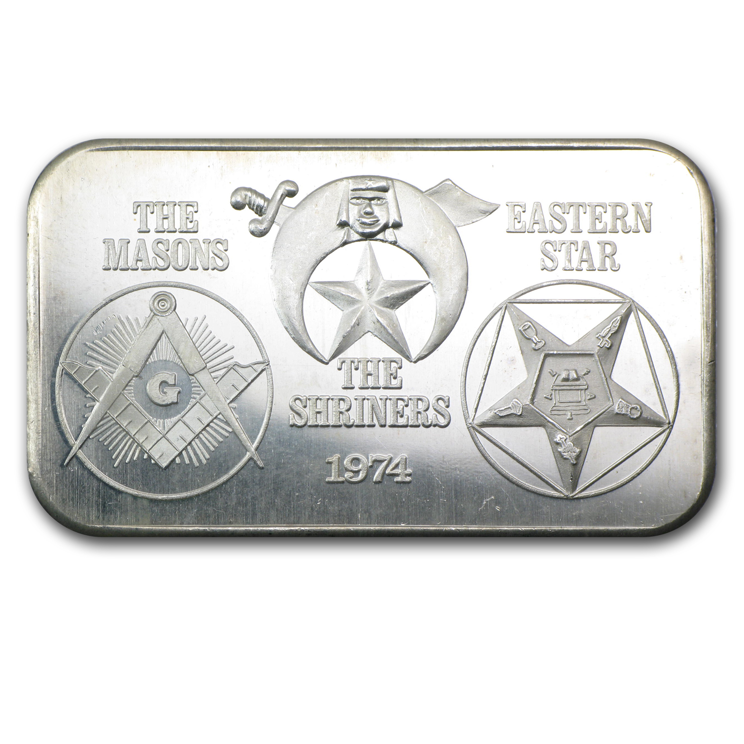 1 oz Silver Bar - Masons/Shriners/Eastern Star